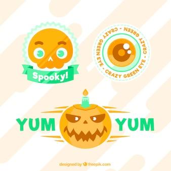 Halloween abzeichen sammlung