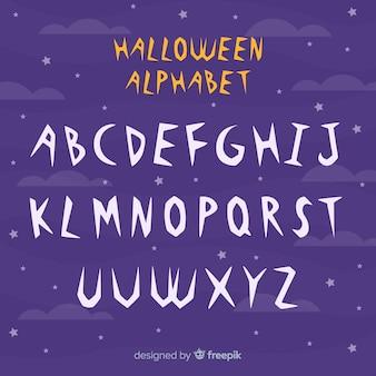 Halloween-alphabet-konzept