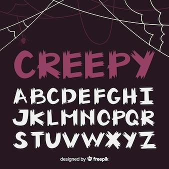 Halloween-alphabet-sammlung