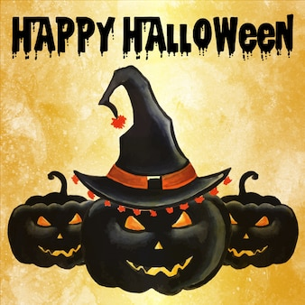 Halloween aquarell hintergrund
