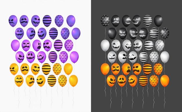 Halloween-ballonzeichensatz