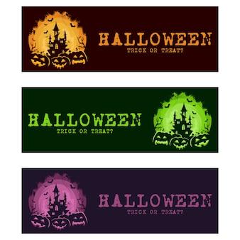Halloween-banner festgelegt
