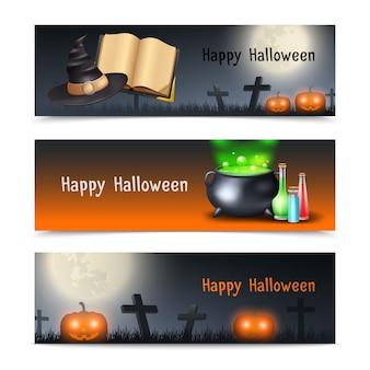 Halloween-banner-set