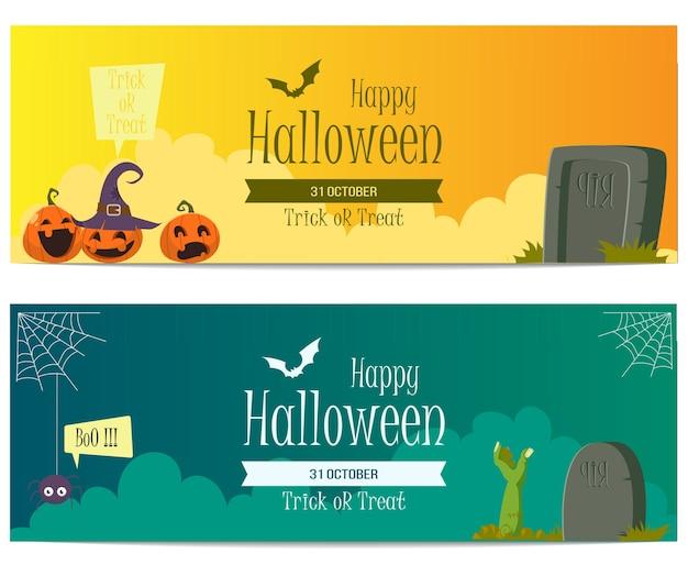 Halloween banner vektor vorlage