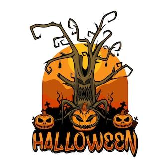 Halloween-baum glückliches halloween