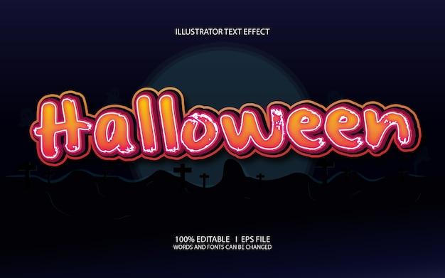 Halloween bearbeitbarer texteffekt