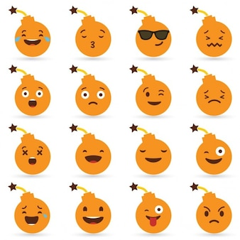 Halloween bomb emoticons