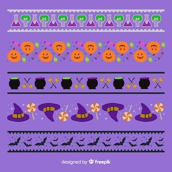 Halloween-bordersammlung