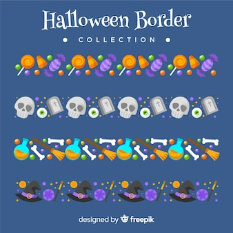 Halloween-bordersammlung
