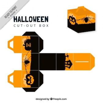Halloween-box mit kürbissen