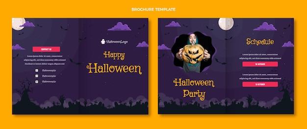 Halloween-broschürenvorlage mit farbverlauf