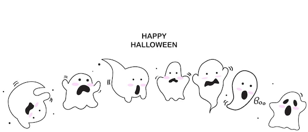 Halloween-cartoon-kunst-party-plakat. konzeptdesign für karnevalshintergrund
