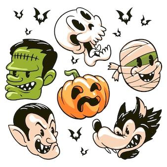 Halloween-cartoon-monster-charakter
