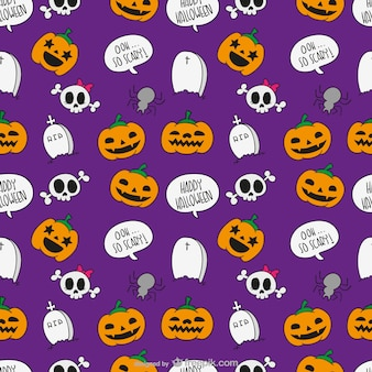 Halloween-cartoon-muster