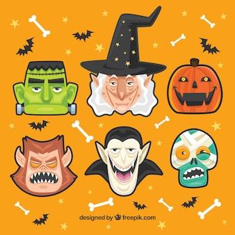 Halloween-charakter-sammlung
