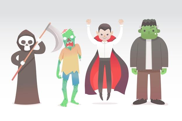 Halloween-charaktersammlung