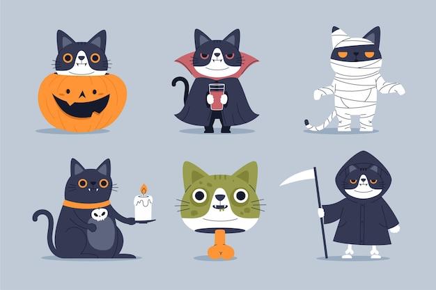 Halloween charaktersammlung