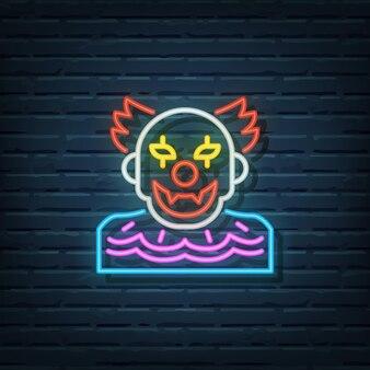 Halloween clown leuchtreklame vektorelemente
