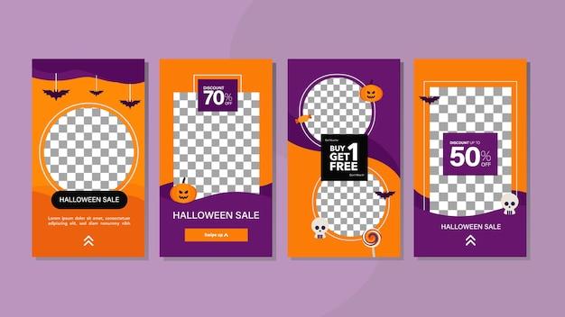 Halloween-cover für social-media-geschichten