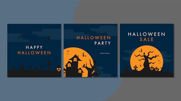 Halloween cover vorlage für social media
