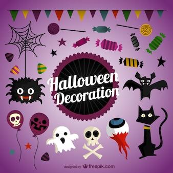Halloween-dekoration pack