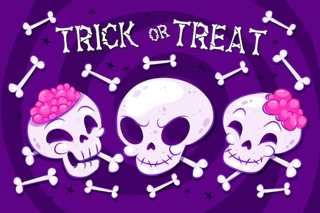 Halloween dekoratives hintergrundthema
