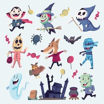 Halloween-design-elemente. lokalisiertes gestaltungsobjekt. geeignet für und alle erforderlichen druckmedien.
