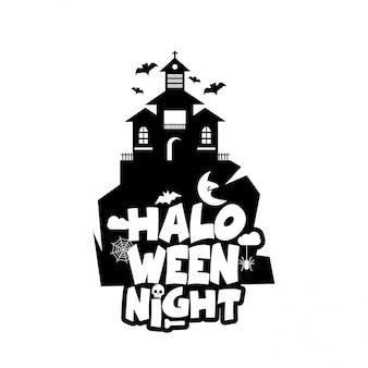 Halloween-design mit typografie