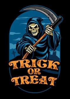 Halloween-design von sensenmann