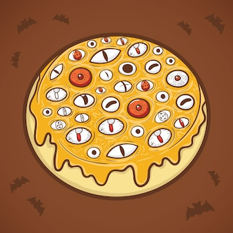 Halloween-donut mustert illustration