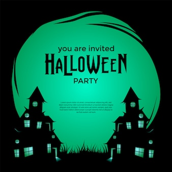 Halloween einladungsparty