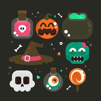 Halloween element-auflistung