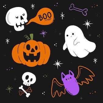 Halloween-element-kollektion