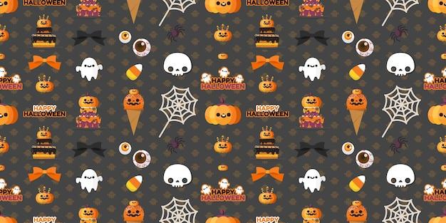 Halloween-element nahtlose muster.
