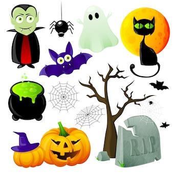 Halloween element set