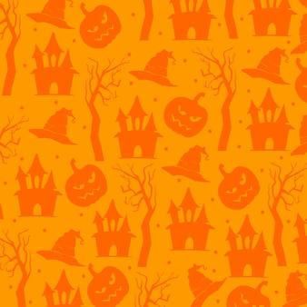 Halloween-Elemente Muster Hintergrund