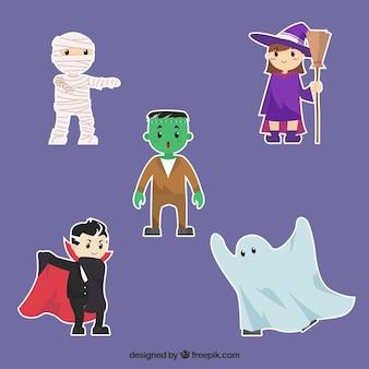 Halloween-elemente sammlung