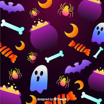 Halloween-elementhintergrund der steigung