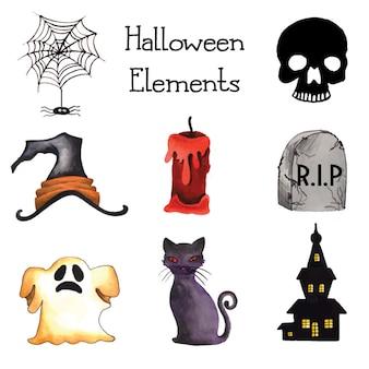 Halloween-elementsammlung