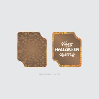 Halloween-etikett