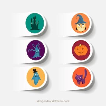 Halloween-etiketten sammlung