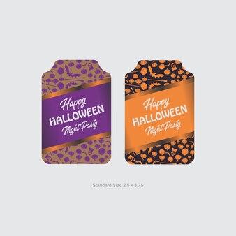 Halloween-etiketten