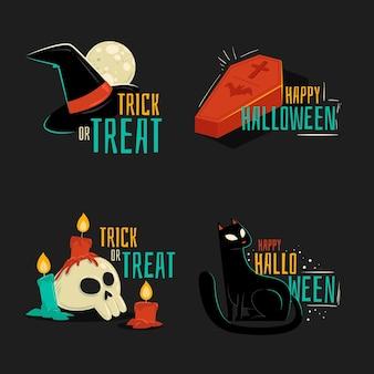Halloween-etikettensammlungsthema