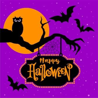 Halloween eule