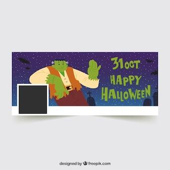 Halloween facebook abdeckung mit zombie
