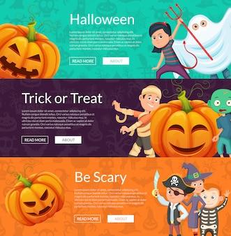 Halloween-fahnensatz