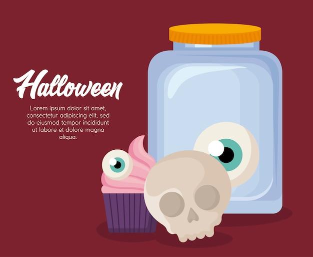 Halloween feier banner