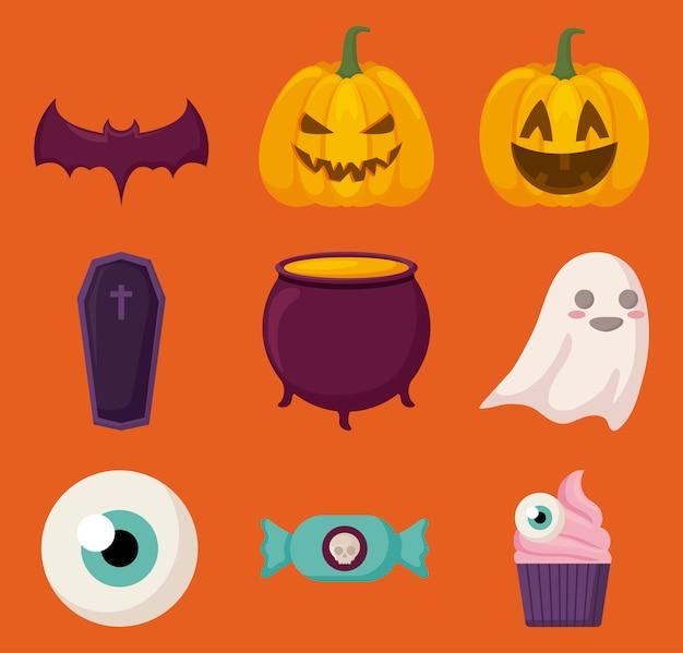Halloween feier elemente