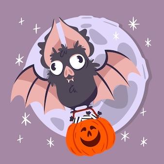 Halloween festival fledermaus konzept