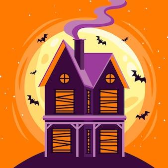 Halloween festival haus konzept